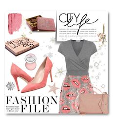 """""""Fashion File: Pink & Grey"""" by jessinerio4l ❤ liked on Polyvore featuring River Island, Miss Selfridge, Thakoon, SJP, Garance Doré and Sephora Collection"""