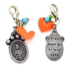 St. Francis of Assisi Pet Collar Charms #petcharms #dogcharms #dogtag #petprotection #stfrancisofassisi #saintfrancis #wearyourfaith #petlove