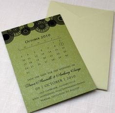 Save the Dates- perfect pattern at the top