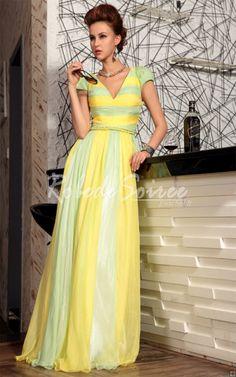 La robe de soirée gradient jaune avec encolure en V robe longue modèles [Doris121127001] - €146.88 : Robe de Soirée Pas Cher,Robe de Cocktail Pas Cher,Robe de Mariage,Robe de Soirée Cocktail.