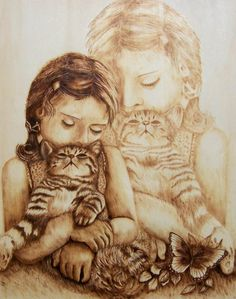 Portraits - #Danette Smith- #Dangee's Pyrography -#Wood Burning