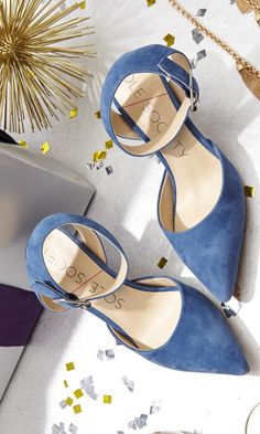 c510e0b520fabb Pointed toe d orsay mid heel in genuine suede with adjustable ankle strap  and buckle