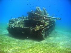 Underwater AA Tank, Red Sea, Aqaba, Jordan
