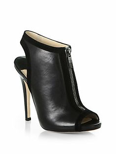 Jimmy Choo Mira Front-Zip Leather & Suede Ankle Boots