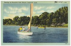 Boating on beautiful Lake Merritt, Oakland, Calif. (ca. 1930s)