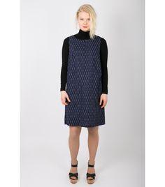 Marimekko Mika Piirainen Dark Blue Print Dress - WST