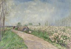 LAWRENCE LEE MAGNUSON Jan Sluijters (Dutch 1881-1957)  Kersenboomgaard in de Betuwe (1915) oil on canvas 70 x 100 cm