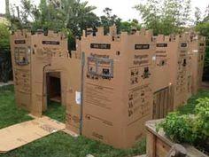 Castle made form cardboard