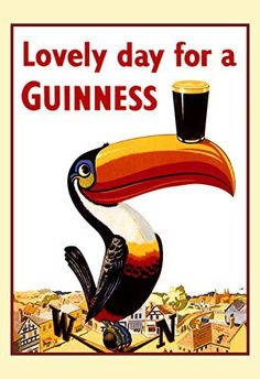 Chic 'Lovely Day For A Guinness VIII' Framed Vintage Advertisement on Wrapped Canvas by Trademark Fine Art Home Decor Furniture from top store Guinness Brewery, Artist Canvas, Canvas Artwork, Baby Clothes Shops, Baby Shop, Wrapped Canvas, Kids Shop, Day