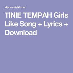 TINIE TEMPAH Girls Like Song + Lyrics + Download