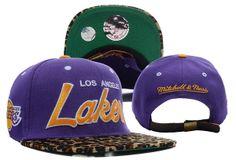 NBA Los Angeles Lakers Leopard Strapback Hat , sales promotion  $5.9 - www.hatsmalls.com