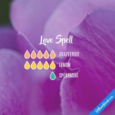 Love Spell Essential Oils Diffuser Blend ••• Buy dōTERRA essential oils online at www.mydoterra.com/suzysholar, or contact me suzy.sholar@gmail.com for more info.