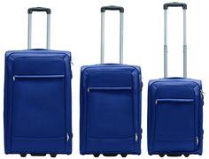 Packenger Lite Business Traveller Textilkoffer 3er-Set Dunkelblau