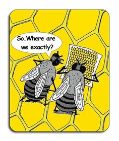 Lost Bees Cartoon Bees Mouse Mat Mouse Pad by TuxcatDesigns cartoon humour inspiration t-shirt