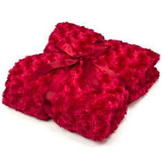 Red Swirly Fur Throw #valentines #comfy
