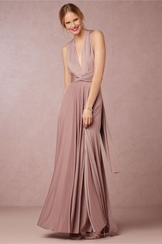 BHLDN SS 2015   Ginger Convertible Maxi Dress $310.00   Color: Heather