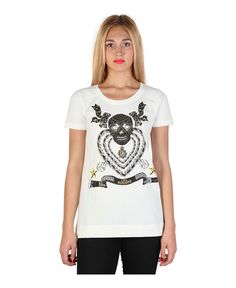 T-shirt, short sleeves - 92% cotton, 8% elastane - wash at 30° - italian size - T-shirt women White
