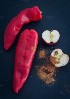 Red Peppers by RUE PARADIS Designs on @creativemarket