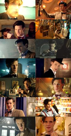 """""""Matt Smith will always be my Doctor.  His general silliness, 'Bow ties are cool', floppy hair, green eyes, flapping hands, and 'drunken giraffe' have delighted me; his old man mannerisms and infectious smile brought a smile to my own face; his sad, weary eyes and intensity have caused tears to flow more than once.  Joy - my Doctor is joyous, and even though he regenerates today, he will always be my favorite."""" <---Agreed. :')"""