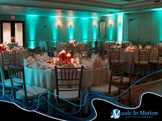 The Water's Edge Resort of Westbrook Connecticut with architectural lighting by Music In Motion Entertainment.