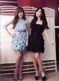 少女時代テヨン、ティファニーと撮ったミニドレス姿のツーショット公開!「ありがとう」