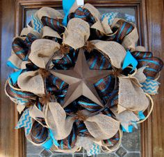 Texas Star Wreath by BlingSassSparkle on Etsy, $85.00