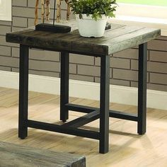 Hammary East Park Square Coffee Table In Gunmetal Home Decor - East park coffee table