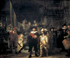 """""""Night Watch""""  Rembrant. This is one of my favourite pieces of art. I love the little girl in the yellow dress."""