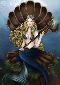 """Princess of Atlantis""  2014  Digital illustration  Wacom Intuos Tablet  Adobe Photoshop CS.5  A3 (42 x 29,7 cm).   #ShanaRabal #ShanaRabalIllustration #DigitalArt #DigitalIllustration #AdobePhotohop #AdobePhotoshoppainting #Siren #PrettyGirl #MelissaFerlaak #Princess #PrincessofAtlantis #Water #Submarine"