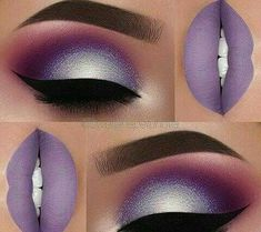 Love the eyes! Not the lipstick Purple Nails, Trendy Nails, Pink Flowers, Eyebrows, Eye Makeup, Instagram Posts, Cosmetics, Lipstick, Ideas