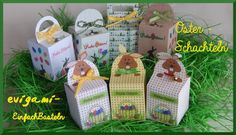 evigami - Papiervorlagen: Ostern Origami, Baby Shoes, Kids, Happy Easter, Marque Page, Boxes, Craft Tutorials, Stencils, Templates