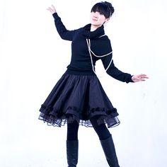 Sun skirt in black E48912242 by xiaolizi on Etsy, $38.00