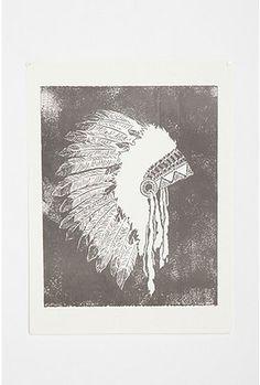 Headdress Print by Post War Print Shop