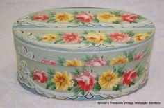 Hannah's Treasures Vintage Wallpaper Bandbox