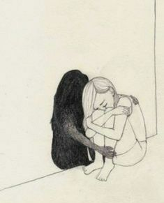 Girl_Drawing by Nadia Kalakina. this maybe with a quote Girl_Drawing by Nadia Kalakina. this maybe with a quo Sad Drawings, Dark Art Drawings, Art Drawings Sketches Simple, Pencil Art Drawings, Art Sketches, Drawing Ideas, Dancing Drawings, Drawing Tips, Sad Girl Drawing