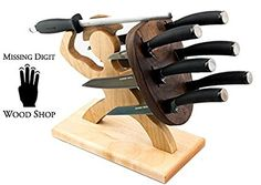 Special Edition Handmade Spartan Knife Block - American Maple and Walnut