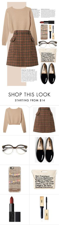 """""""untitled #350"""" by iamjustamayfly ❤ liked on Polyvore featuring Anja, Prada, Casetify, Chicnova Fashion, Yves Saint Laurent, Winter, outfit and StrangerThings"""