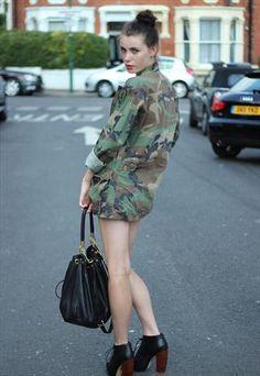 Vintage Oversized Army Camo Jacket