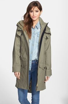 #Mackage Canvas Utility Coat with Removable Liner Large $460