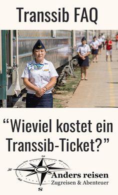 """""""Wieviel kostet ein Transsib Ticket?"""" Diese Frage bekomme ich oft gestellt. Wieviel ein Transsibirische Eisenbahn Ticket kostet kommt auf verschiedenes an. Im Beitrag findest Du die Antwort und viele Tipps. #transsibirien #transsib #transsibirischeeisenbahn #zugreise #abenteuer #railroadtrip Travel Guides, Russia, Wanderlust, Kind, Cards, Outdoor, Ticket, Trans Siberian Railway, Vacation Travel"""