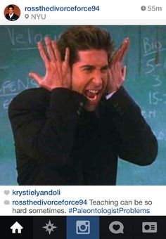 "Community Post: If Ross Geller From ""Friends"" Had Instagram"