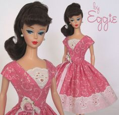 Pretty in Pink - Vintage Reproduction Repro Barbie Doll Dress Clothes Fashions #Fanfare