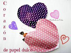 Corazón de papel dulce   Aprender manualidades es facilisimo.com