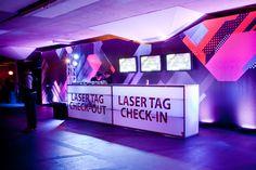 T Mobile Sidekick Launch | 2011 | Best Events @bestevents #neon #underground #modern #tech #lasertag