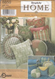 Simplicity 8859 Pillows Sewing Pattern - Pillows Package Sewing Pattern - Home Decor Sewing Pattern- Uncut Sewing Pattern by SimplyCraftSupplies on Etsy