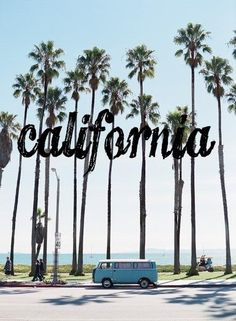 Los Angeles, California Looks like Santa Monica or Venice Beach area. The Places Youll Go, Places To Visit, The Beach, California Dreamin', California Girl Quotes, California Palm Trees, Venice Beach California, Santa Barbara California, Vintage California