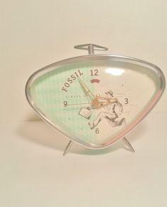 1950s Style Retro Fossil Alarm Clock by EstateofAuroraHorton, $35.00