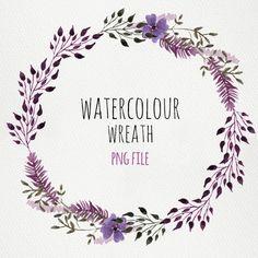 Watercolour Wreath nr3 by Webvilladesign on Etsy