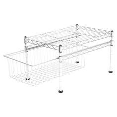 Found it at Wayfair - UltraZinc Mini Basket & Shelf Organizer in Stainless Steelhttp://www.wayfair.com/daily-sales/p/Multipurpose-Storage-Picks-UltraZinc-Mini-Basket-%26-Shelf-Organizer-in-Stainless-Steel~FZV1121~E13359.html?refid=SBP.rBAZEVNOlccnzAqEHhTaAlLngdmNCkuJj62ReDX_g1I