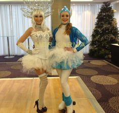 Winter Wonderland themed entertainment to hire -  Elf Skater and Winter Kisses canape hostess to hire. http://www.calmerkarma.org.uk/winter-wonderland.htm    Perfect for corporate Christmas parties.   Hire across the UK inc MANCHESTER, LONDON, Cheshire, BIRMINGHAM, CARDIFF, Bristol